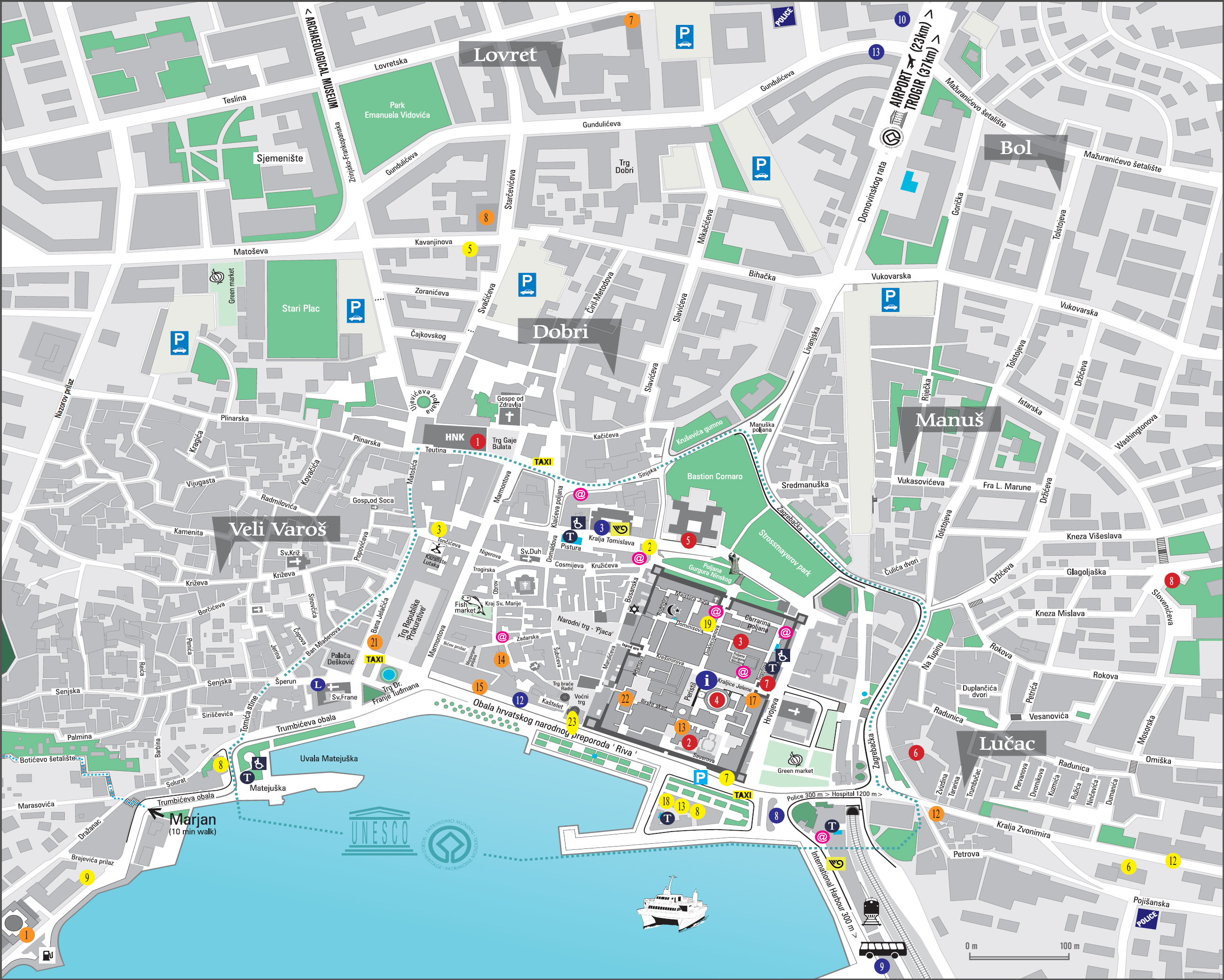 The town of split in croatia the old city plan of the old town of split author office split tourism click to publicscrutiny Images
