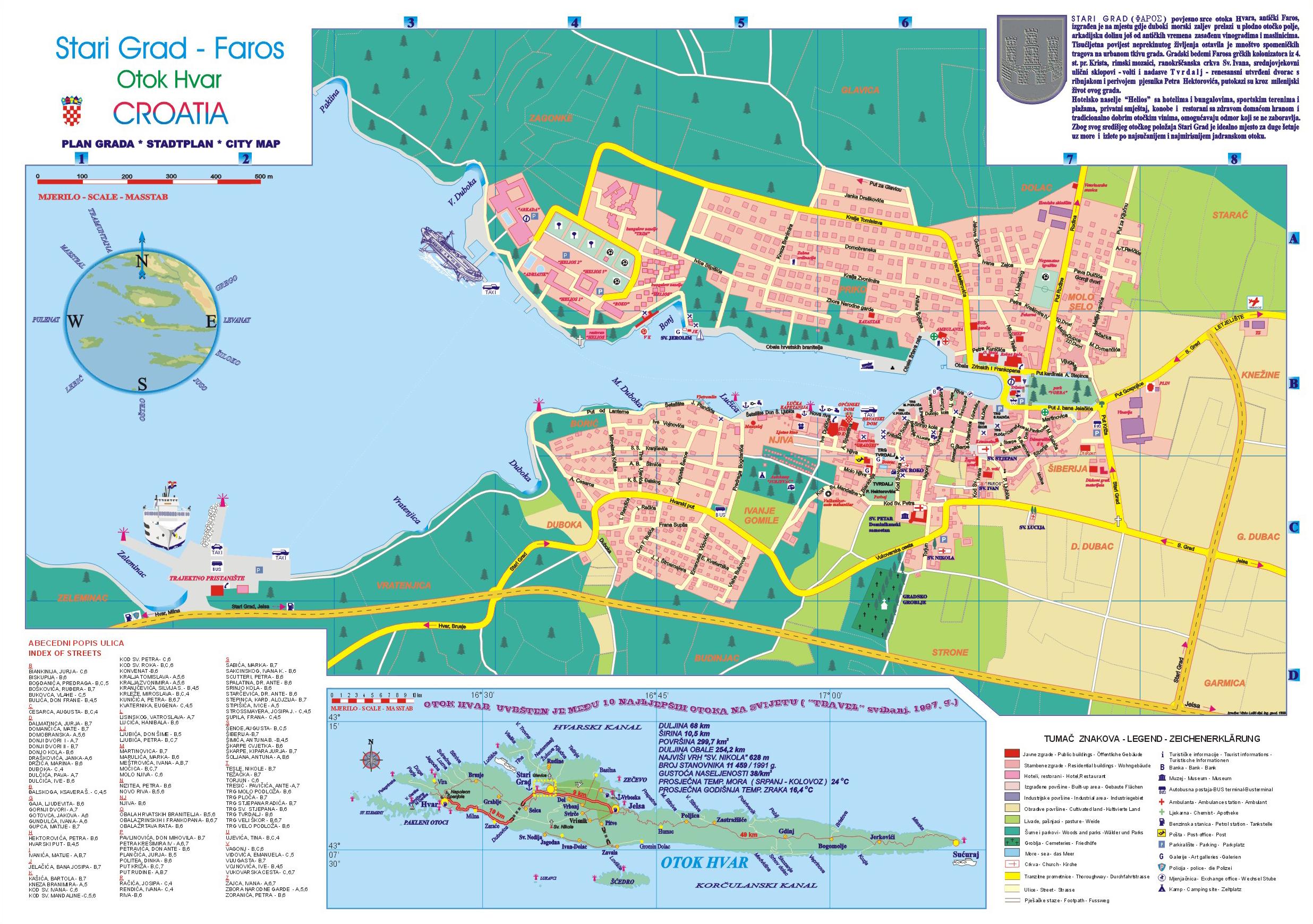 La Ville De Stari Grad Dans L 238 Le De Hvar En Croatie