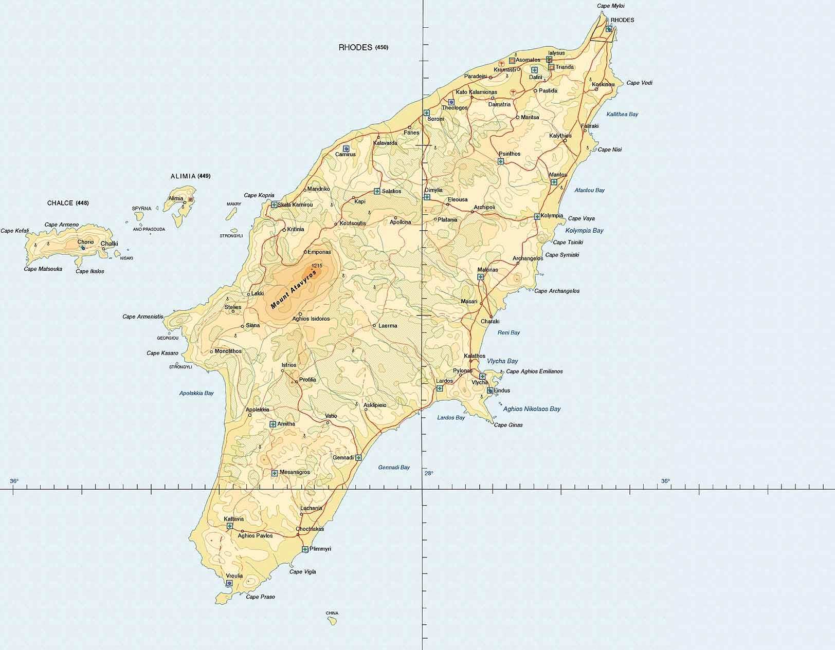 L'île de Rhodes en mer Égée