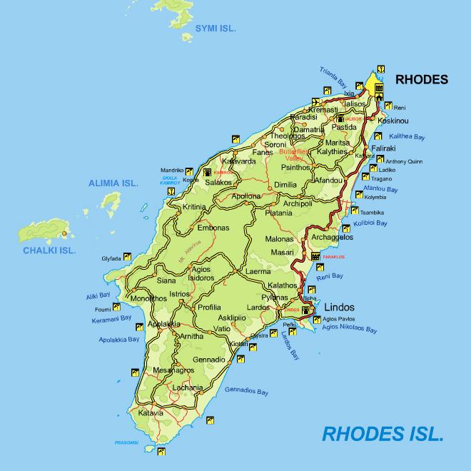 Informations touristiques sur Rhodes