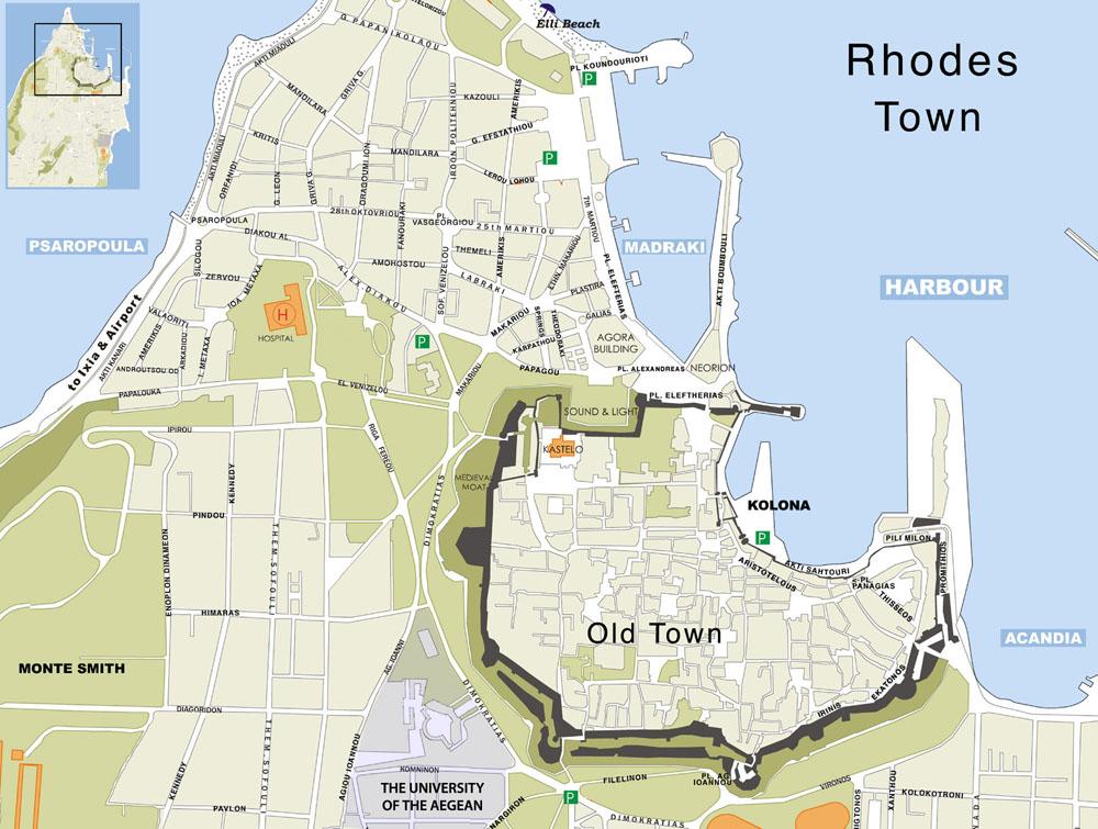 Tourist information Rhodes
