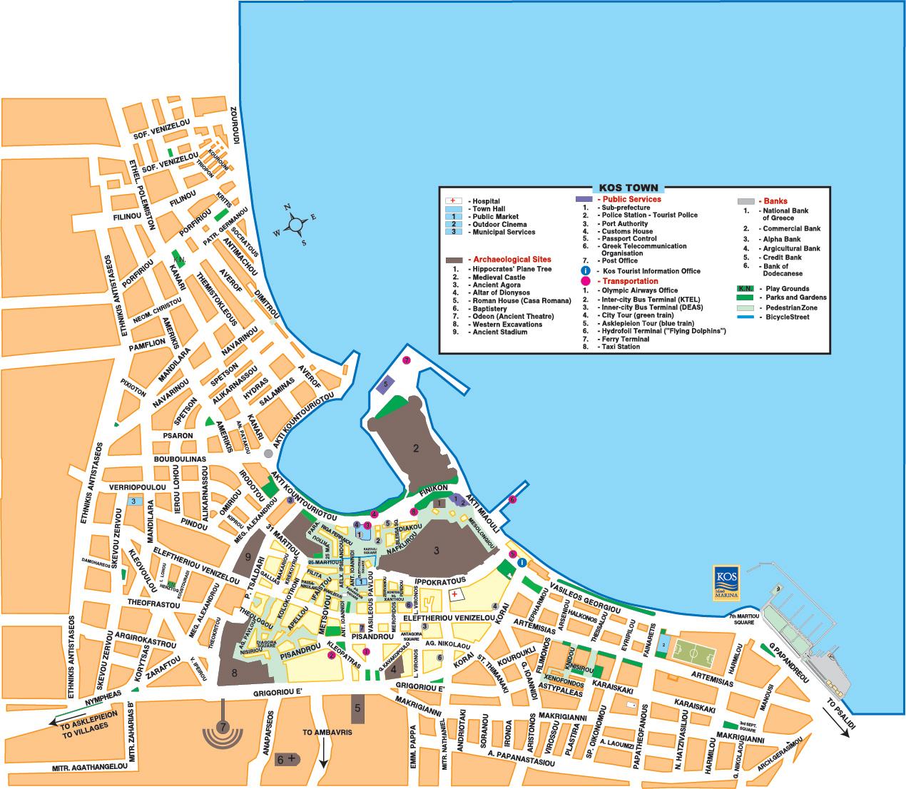 Kos Town Kos Island Interactive map