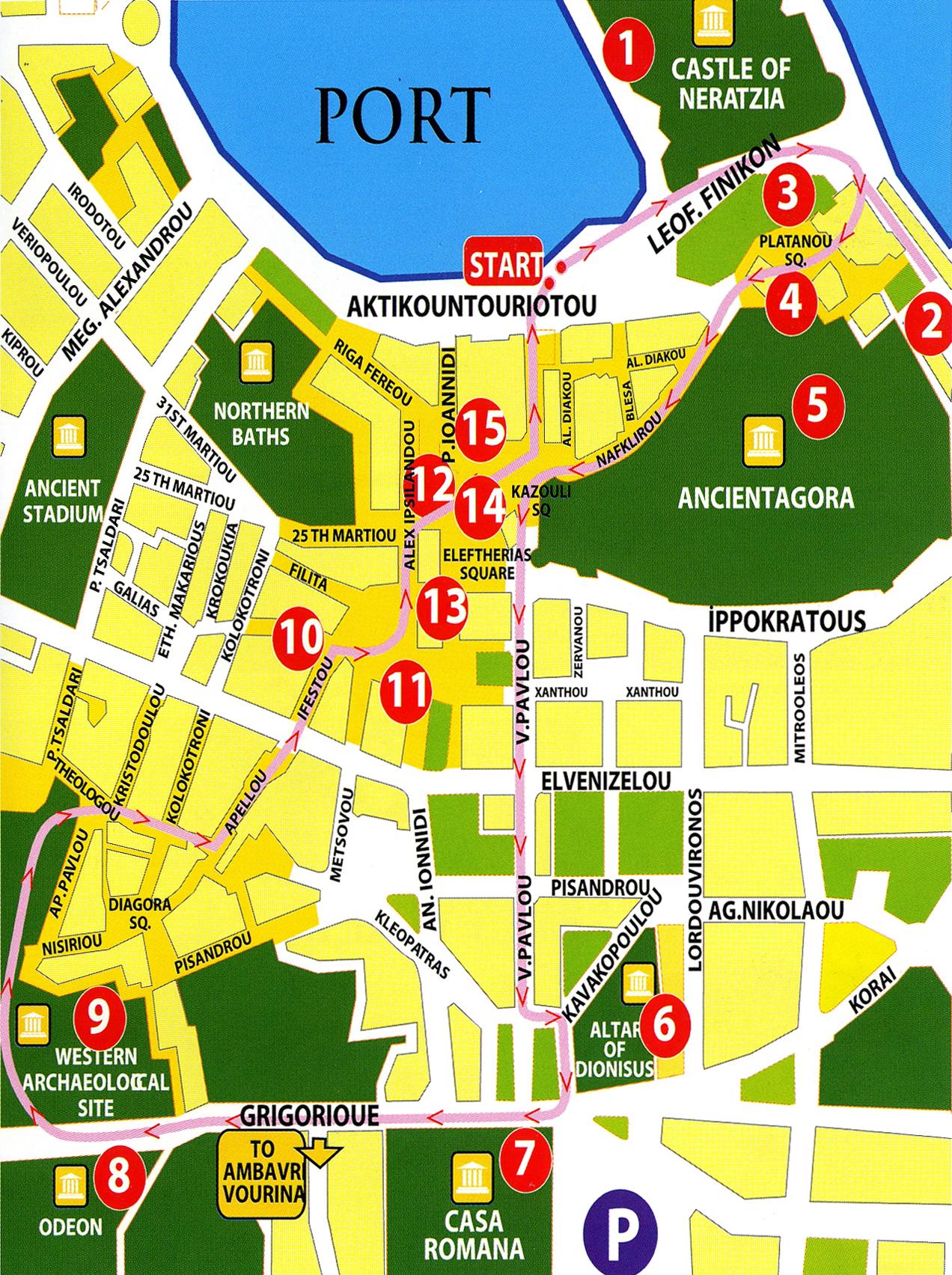 Kos Town Kos The GrecoRoman city