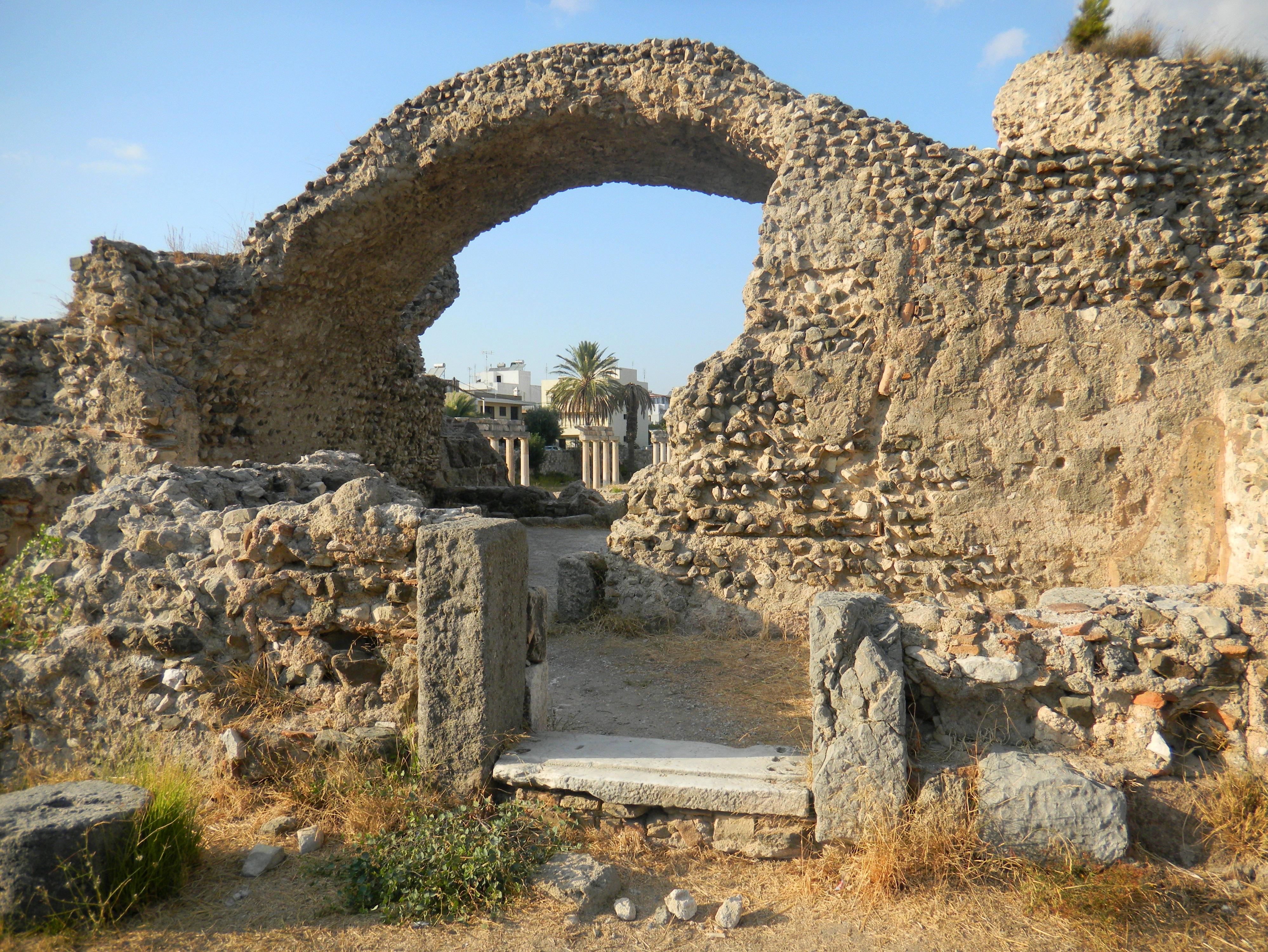 La ville de kos le de kos la ville gr co romaine for Terme ou therme