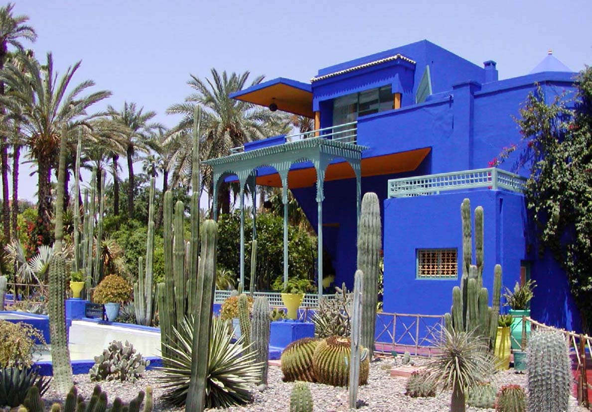 le jardin majorelle marrakech au maroc. Black Bedroom Furniture Sets. Home Design Ideas
