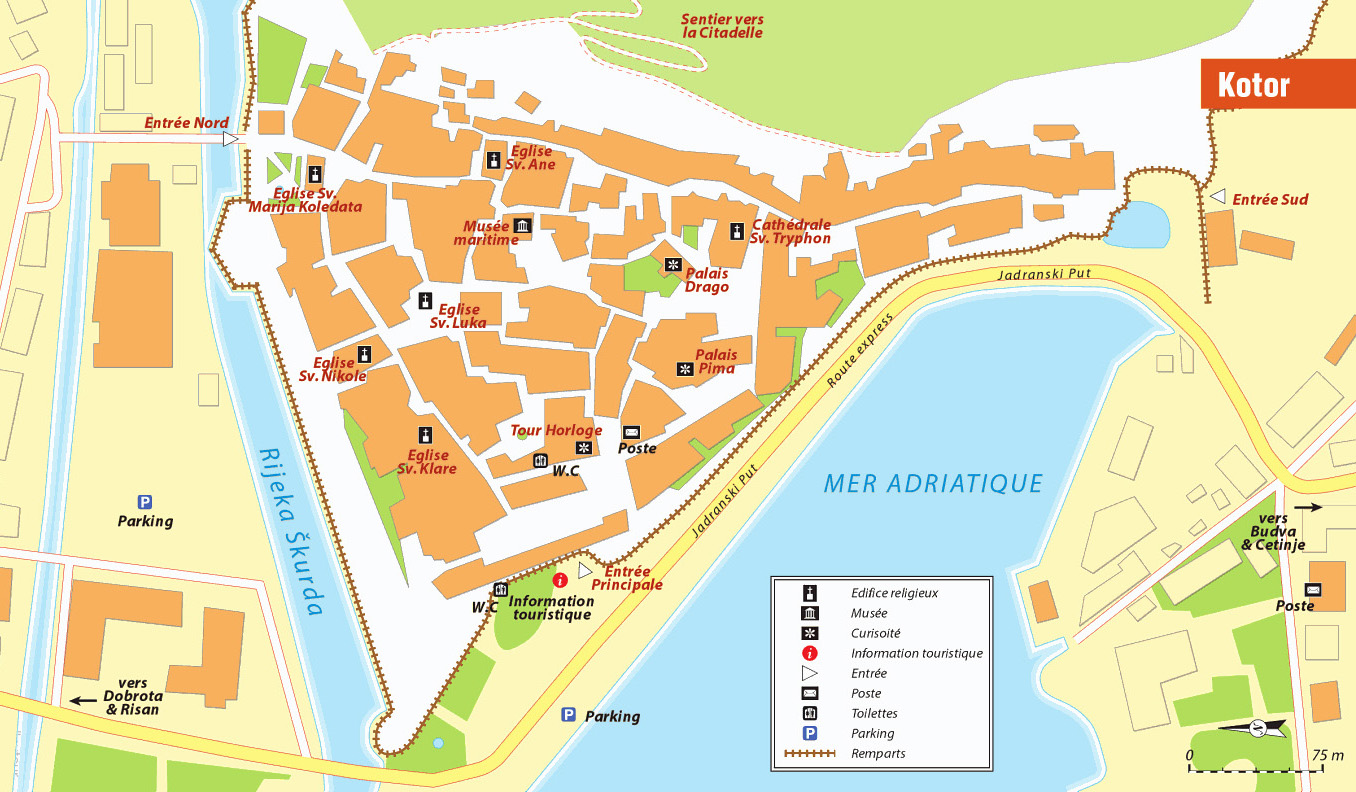 Kotor Montenegro Karte.Interaktive Karte Der Stadt Von Kotor
